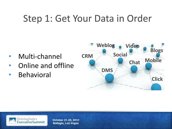 Step 1: Get Your Data in Order