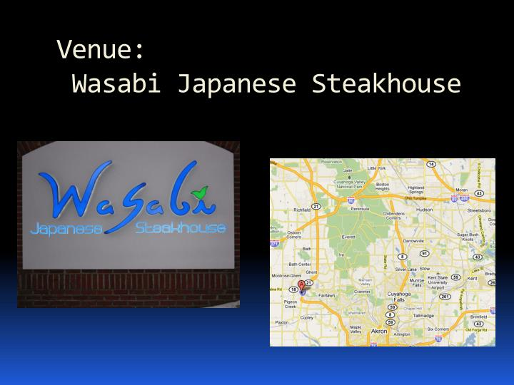 Venue wasabi japanese steakhouse