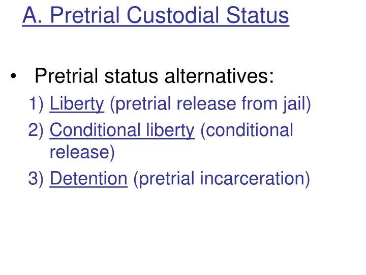 A. Pretrial Custodial Status