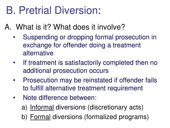 B. Pretrial Diversion