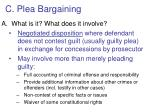 c plea bargaining