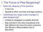 i the future of plea bargaining