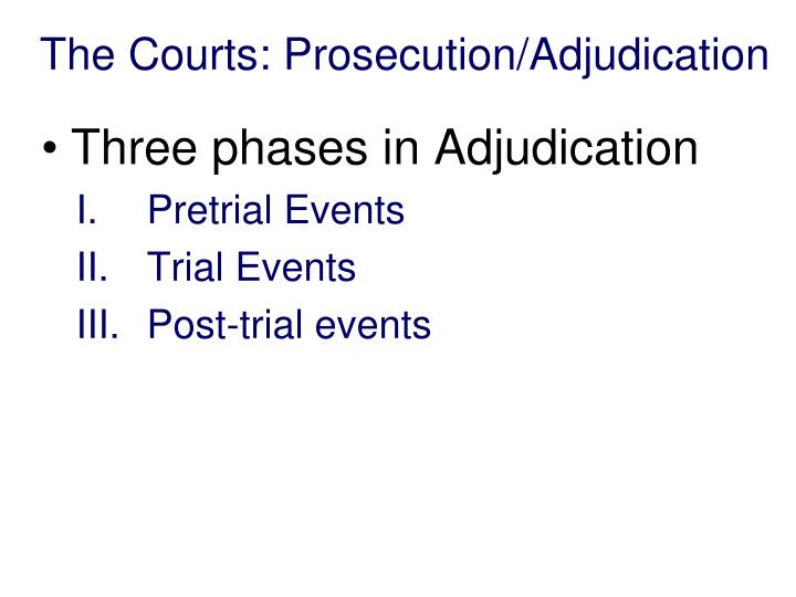 the courts prosecution adjudication