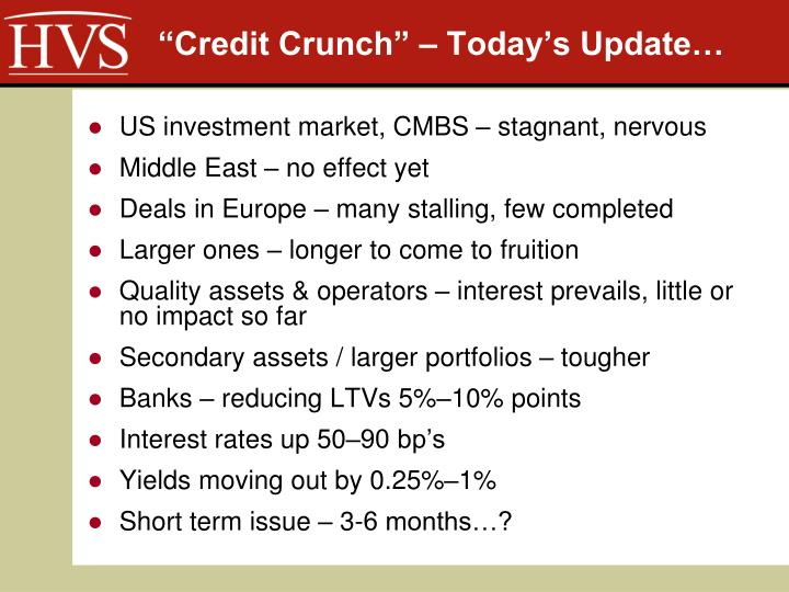 """Credit Crunch"" – Today's Update…"
