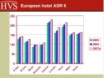 european hotel adr