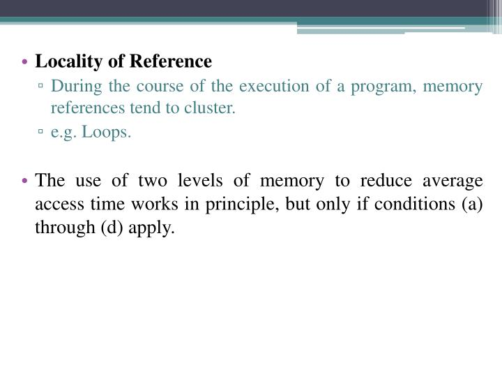 Locality of Reference