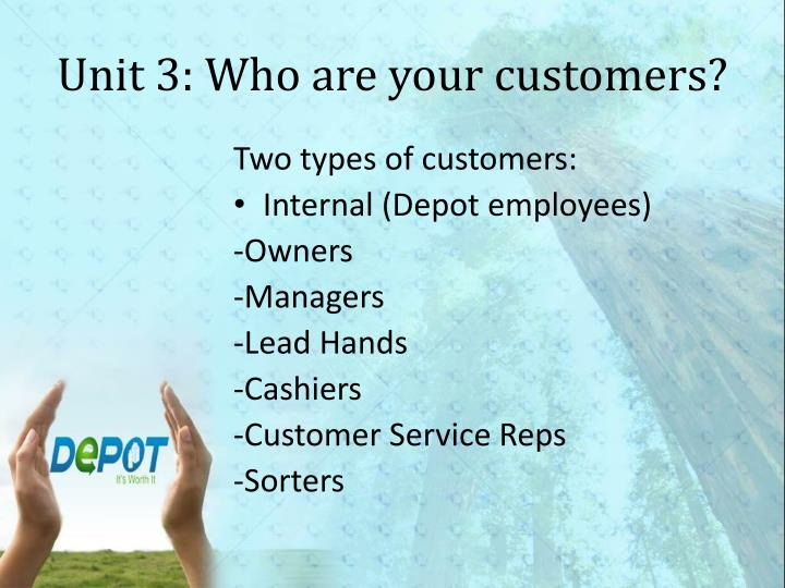 Unit 3: Who are your customers?