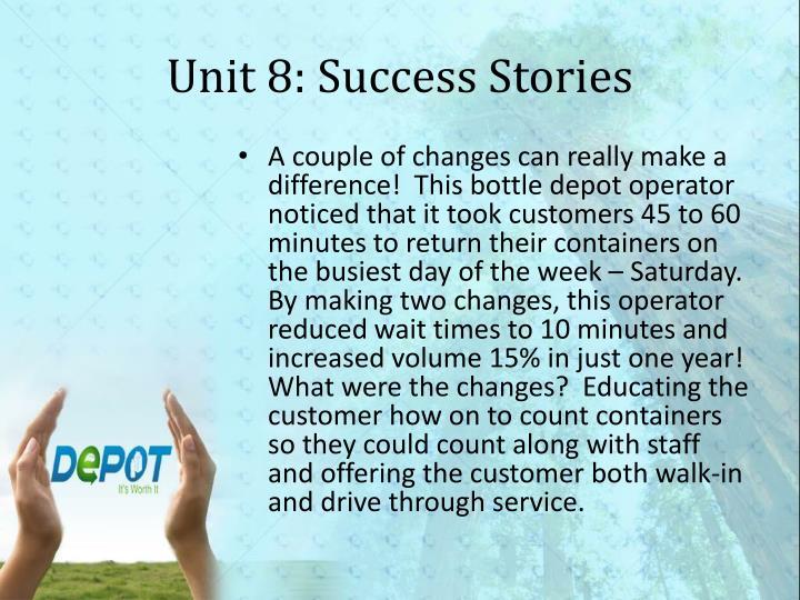 Unit 8: Success Stories