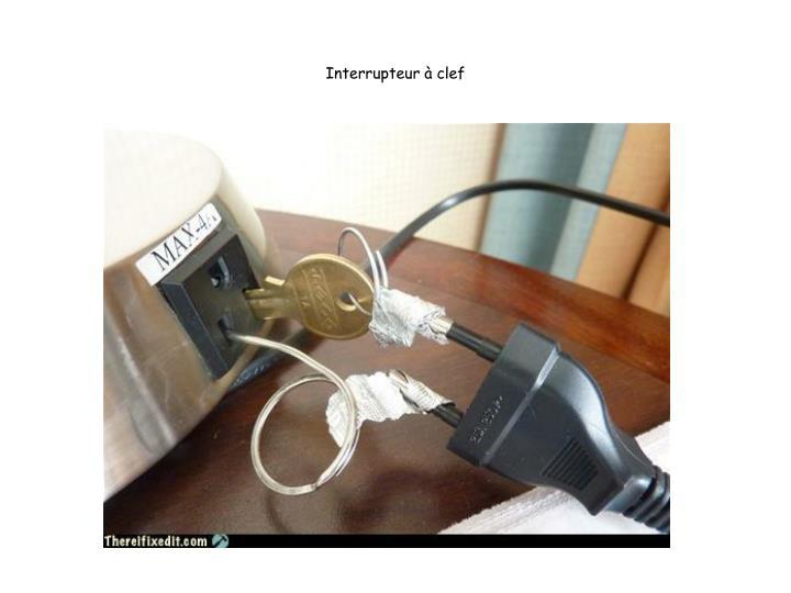 Interrupteur à clef