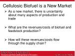 cellulosic biofuel is a new market