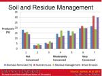 soil and residue management