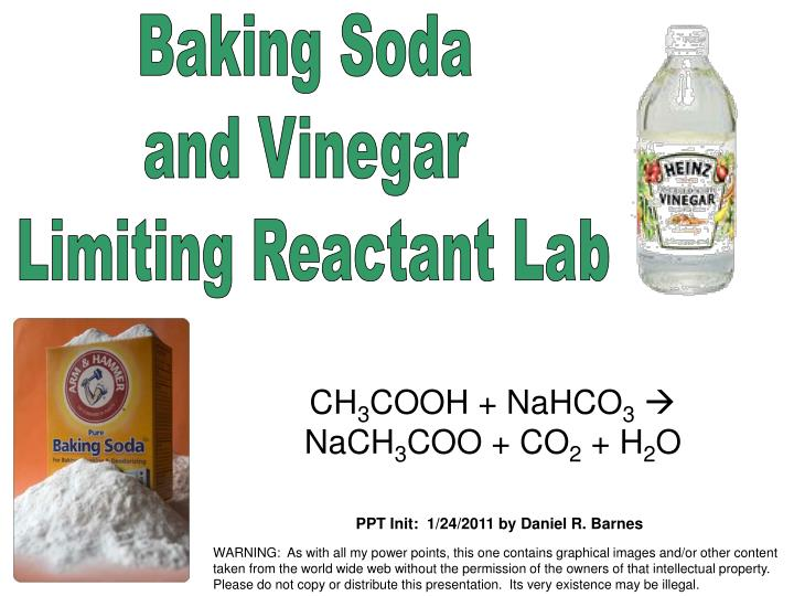 Ppt Baking Soda And Vinegar Limiting Reactant Lab
