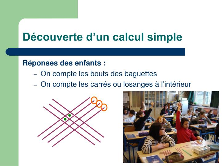 Découverte d'un calcul simple