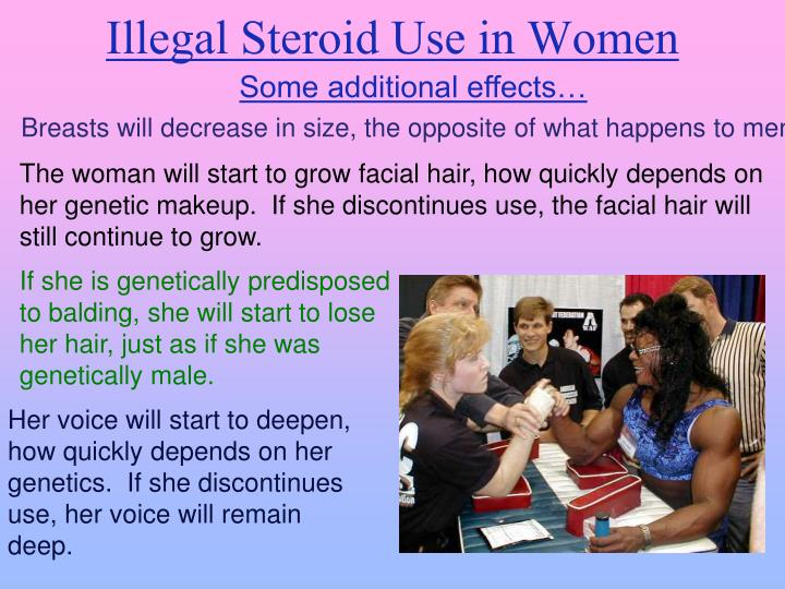 Illegal Steroid Use in Women