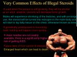 very common effects of illegal steroids
