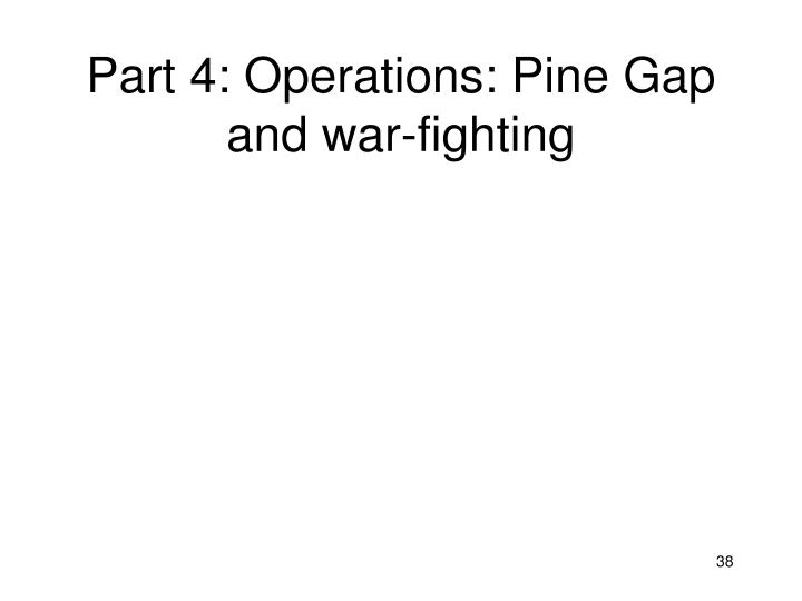 Part 4: Operations: Pine Gap and war-fighting