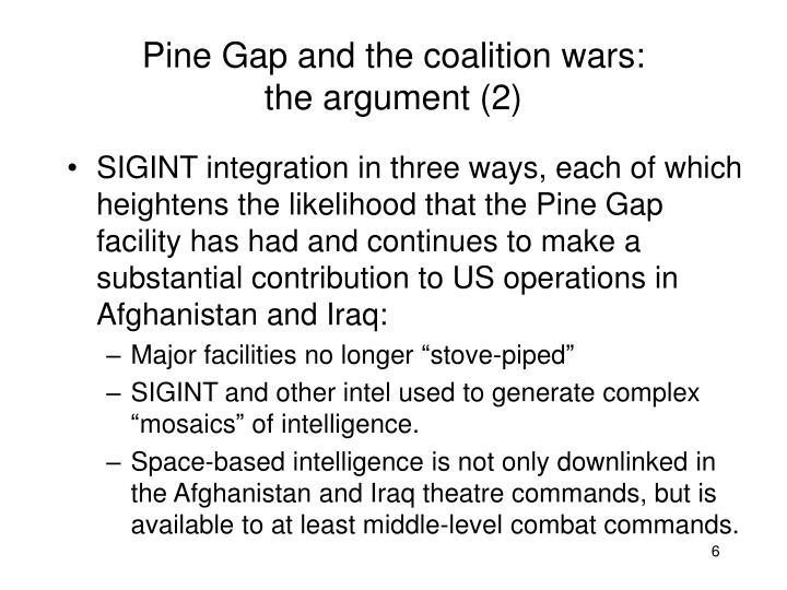 Pine Gap and the coalition wars: