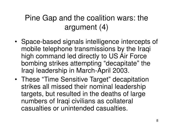 Pine Gap and the coalition wars: the argument (4)