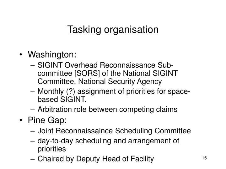 Tasking organisation