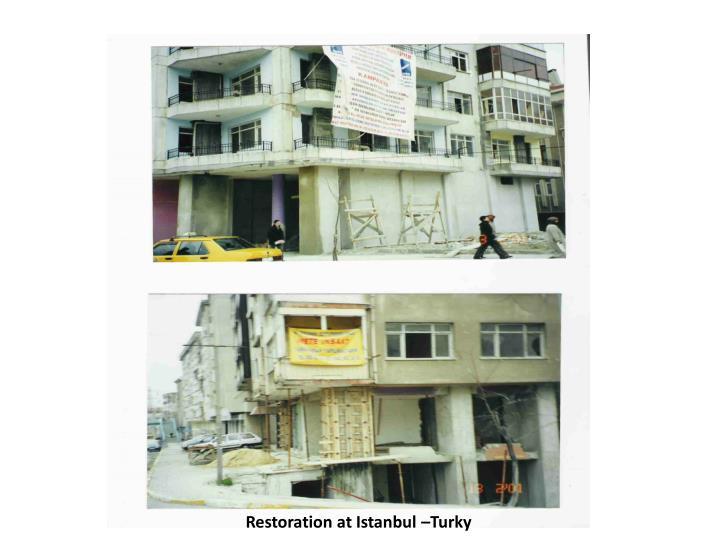 Restoration at Istanbul Turky