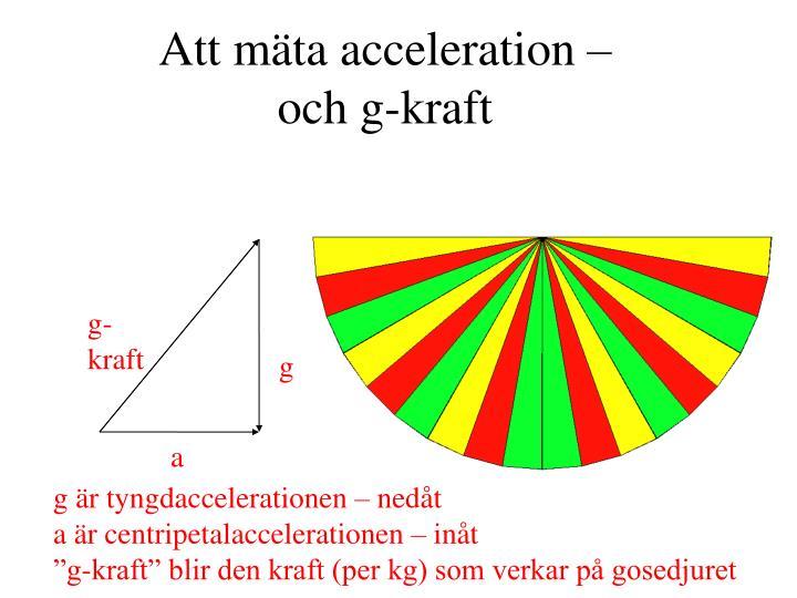 Att mäta acceleration –