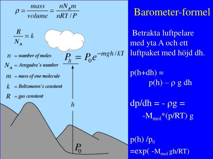 Barometer-formel