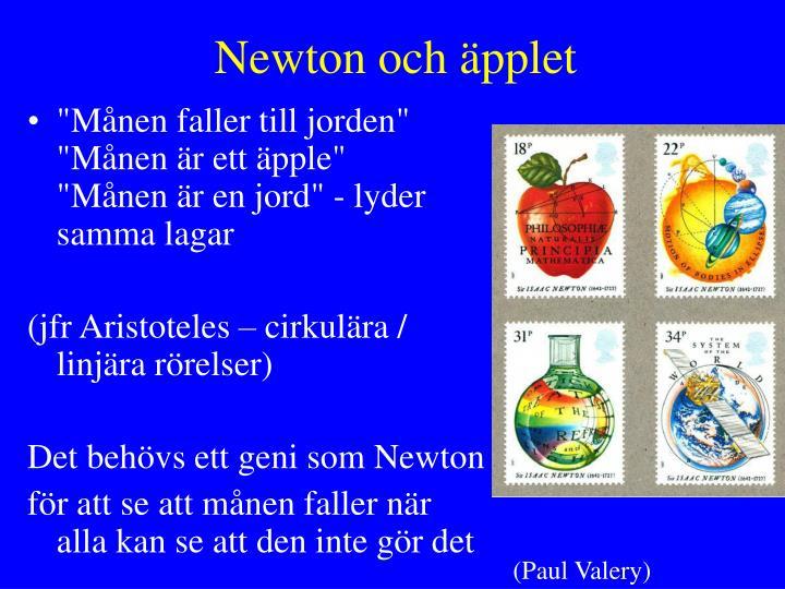 Newton och äpplet