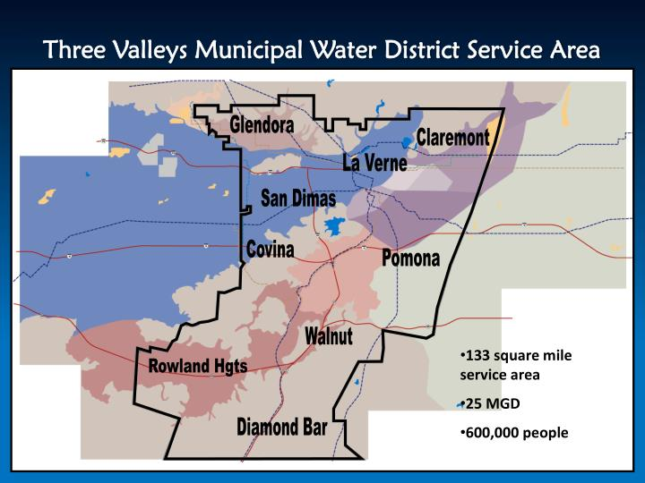 Three Valleys Municipal Water District Service Area