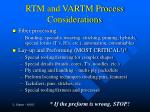 rtm and vartm process considerations