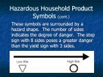 hazardous household product symbols cont