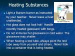 heating substances
