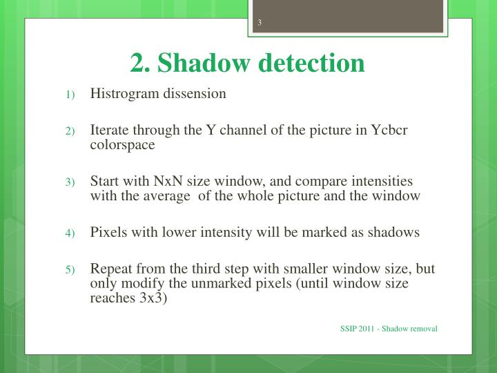 2 shadow detection