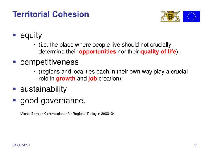 Territorial Cohesion