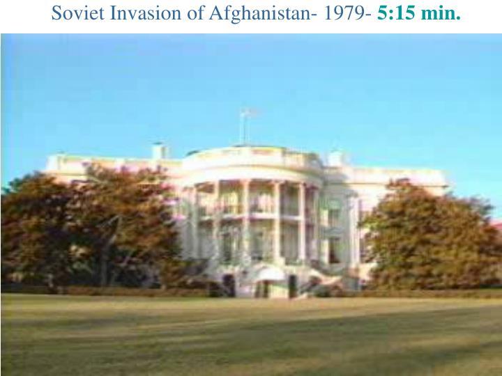 Soviet Invasion of Afghanistan- 1979-