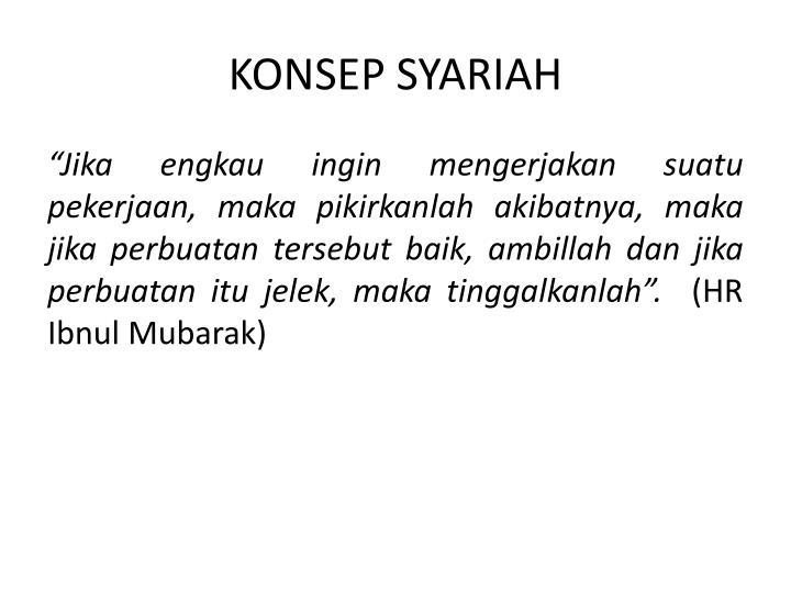 KONSEP SYARIAH
