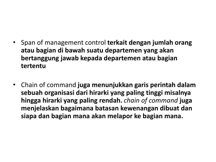 Span of management control