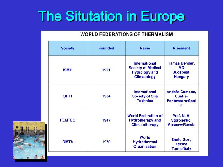 The Situtation in Europe