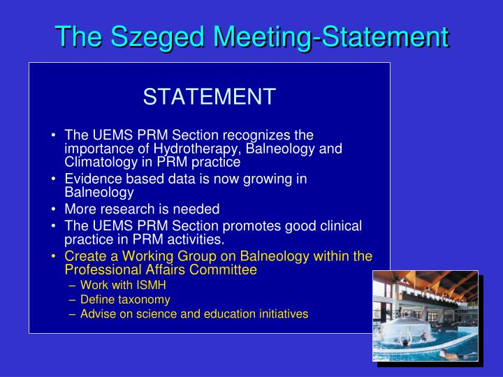 The Szeged Meeting-Statement