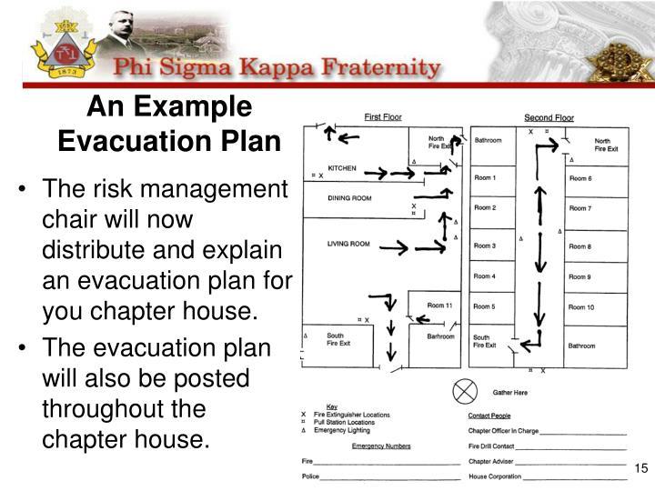 An Example Evacuation Plan