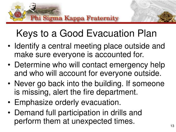 Keys to a Good Evacuation Plan