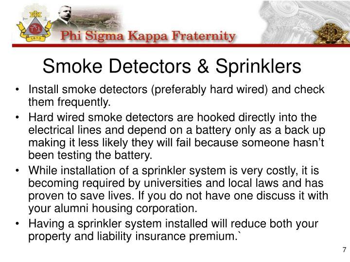 Smoke Detectors & Sprinklers