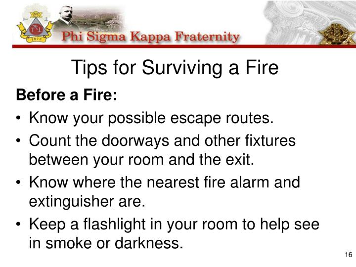 Tips for Surviving a Fire