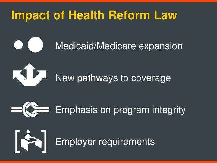 Impact of Health Reform Law