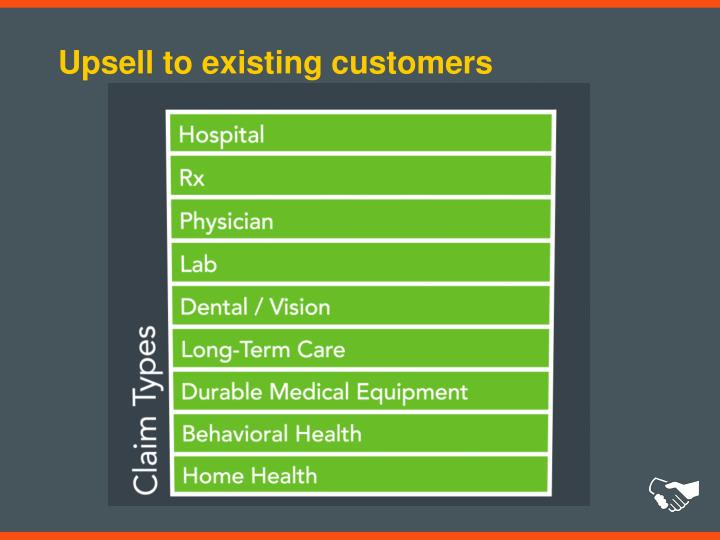 Upsell to existing customers