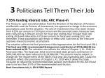 3 politicians tell them their job