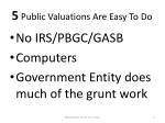 5 public valuations are easy to do