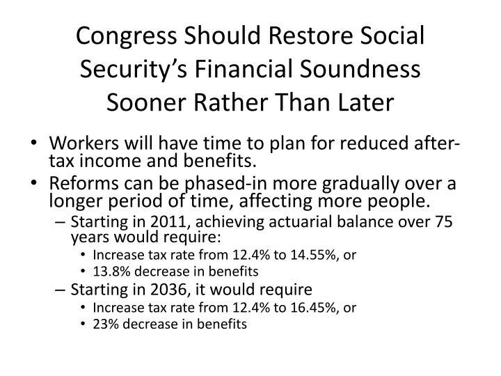 Congress Should