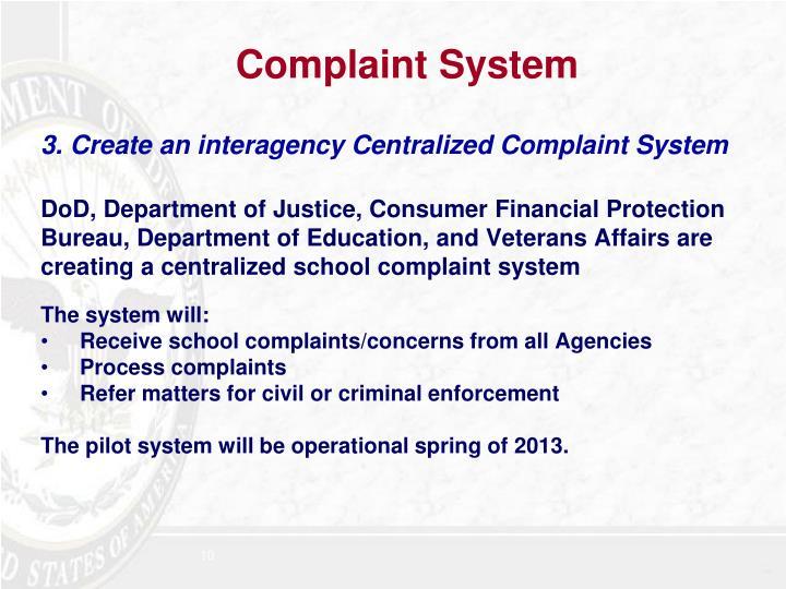 Complaint System