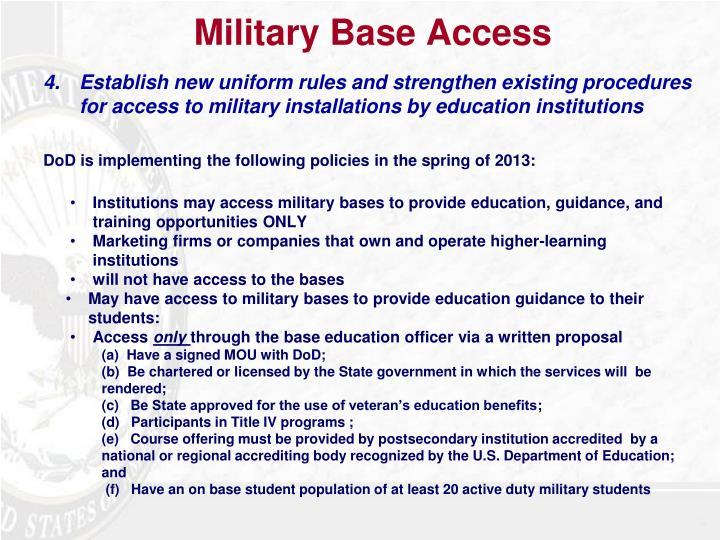 Military Base Access