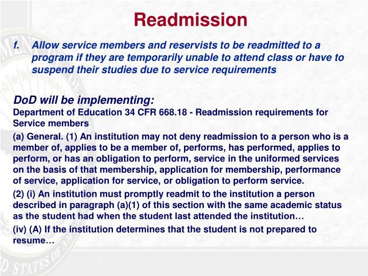 Readmission